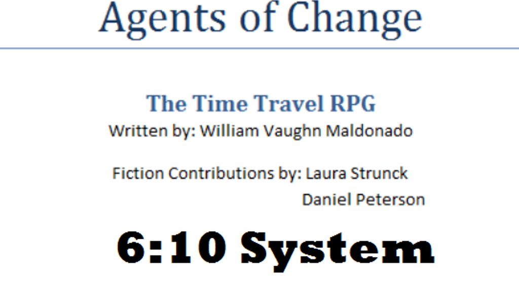 Agents of Change: The Time Travel RPG project video thumbnail