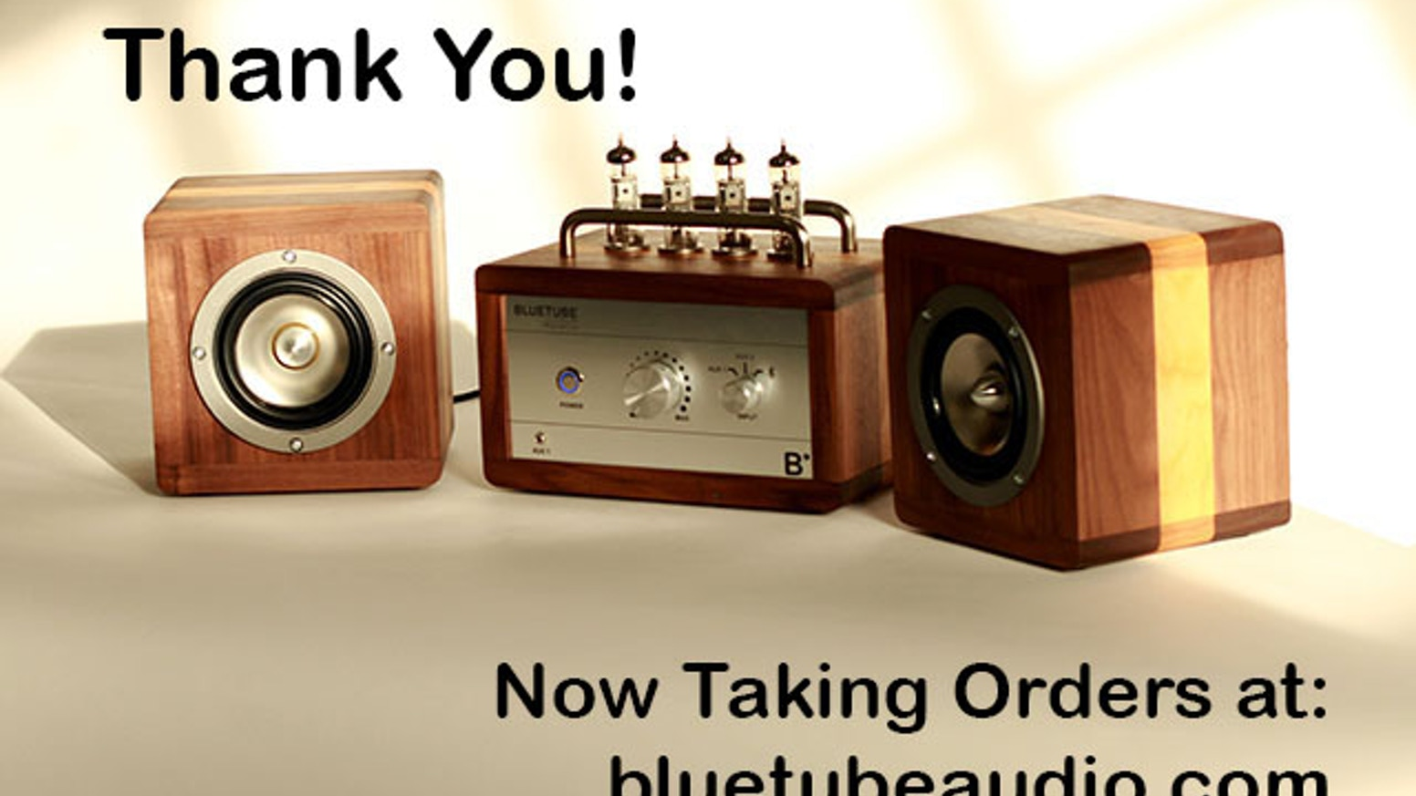 A vacuum tube amplifier with built-in Bluetooth by BlueTube by