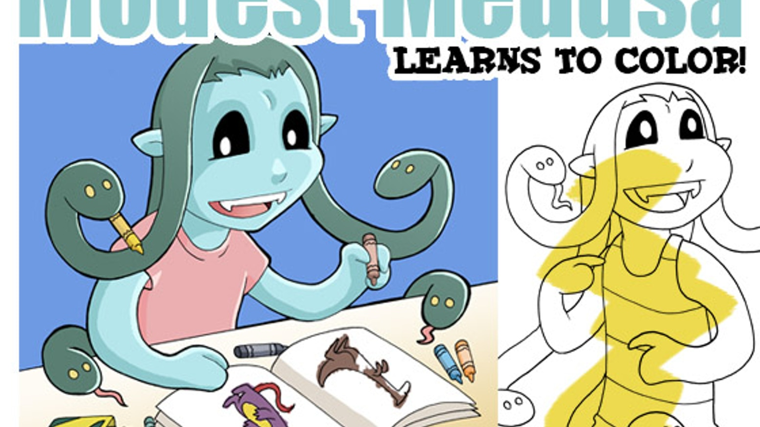 Modest Medusa Coloring Book! by Jake Richmond — Kickstarter