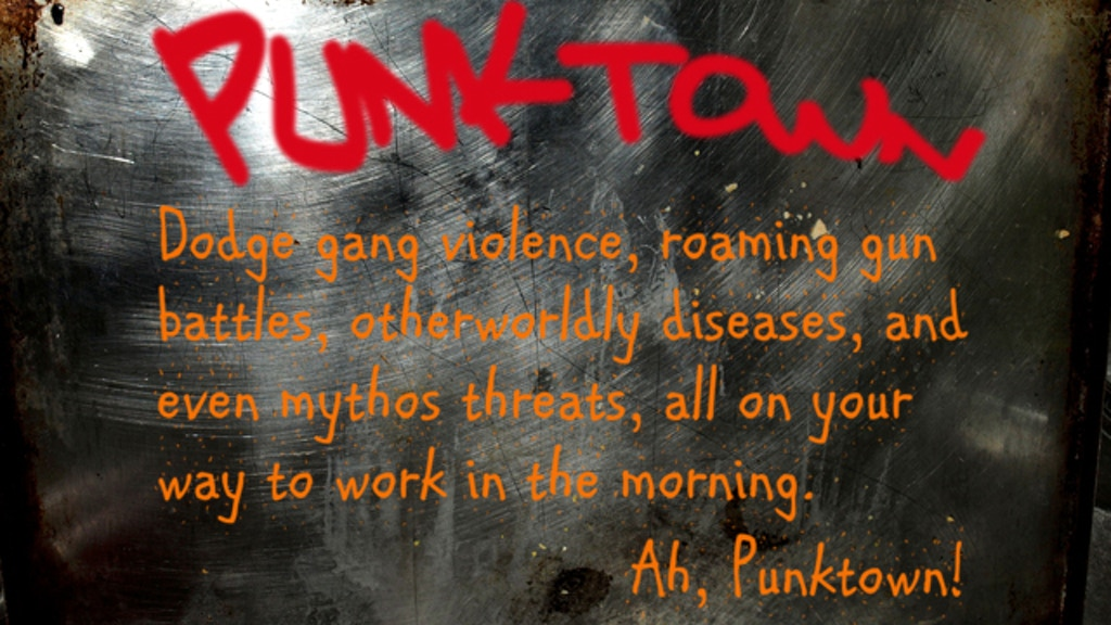 Punktown: An RPG Setting for Call of Cthulhu® and BRP Gaming miniatura de video del proyecto