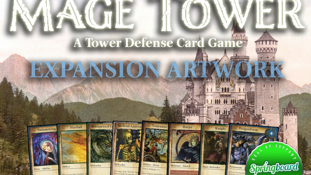Mage Tower, A Tower Defense Card Game: Art For Expansion!?!? project video thumbnail