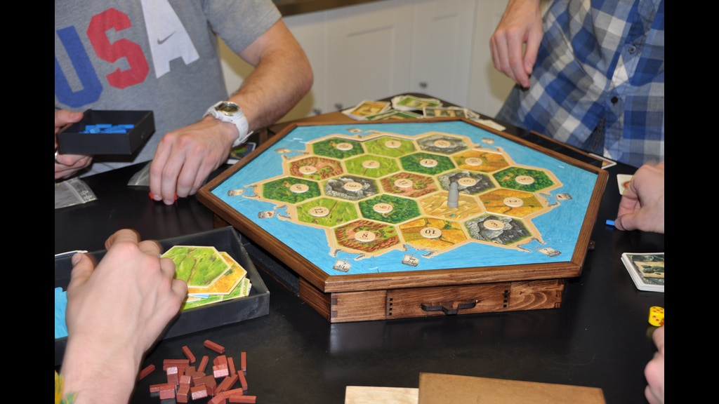 how to play settlers of catan with 2 players