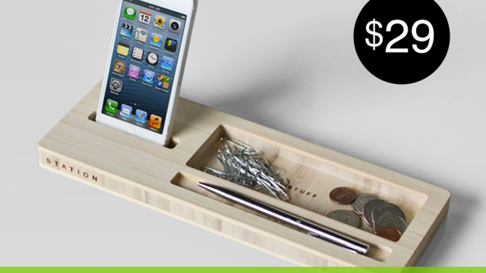 MODERN Caddy for your phone, keys, sunglasses, pens, loose change, etc. iPhone, Samsung Galaxy, Android and many more.