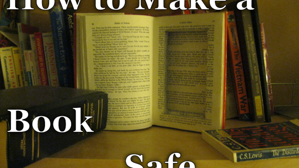 How to Make a Book Safe project video thumbnail