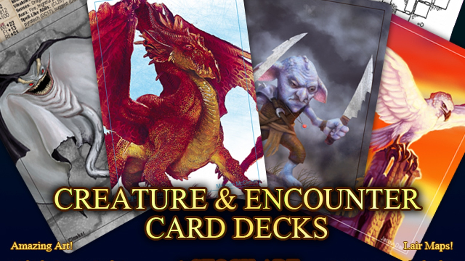 Creature Encounter Rpg Card Decks By Inkwell Ideas Dire