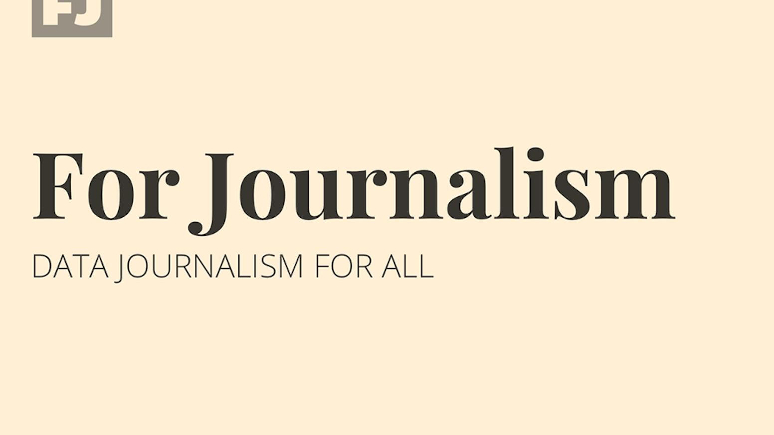 For Journalism by Dave Stanton — Kickstarter