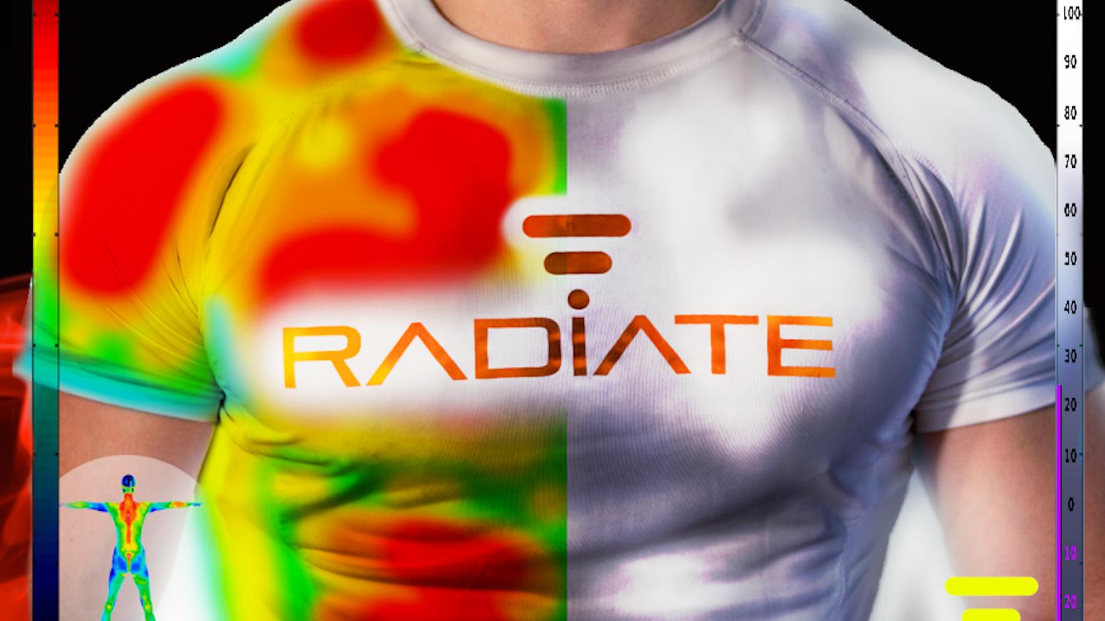 974f5303a7e2f Radiate Athletics  The Future of Sports Apparel. No sweat  advanced workout  shirt ...