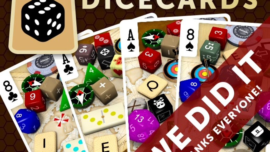 Dicecards: The World's Geekiest Dice Bag in a Deck of Cards project video thumbnail