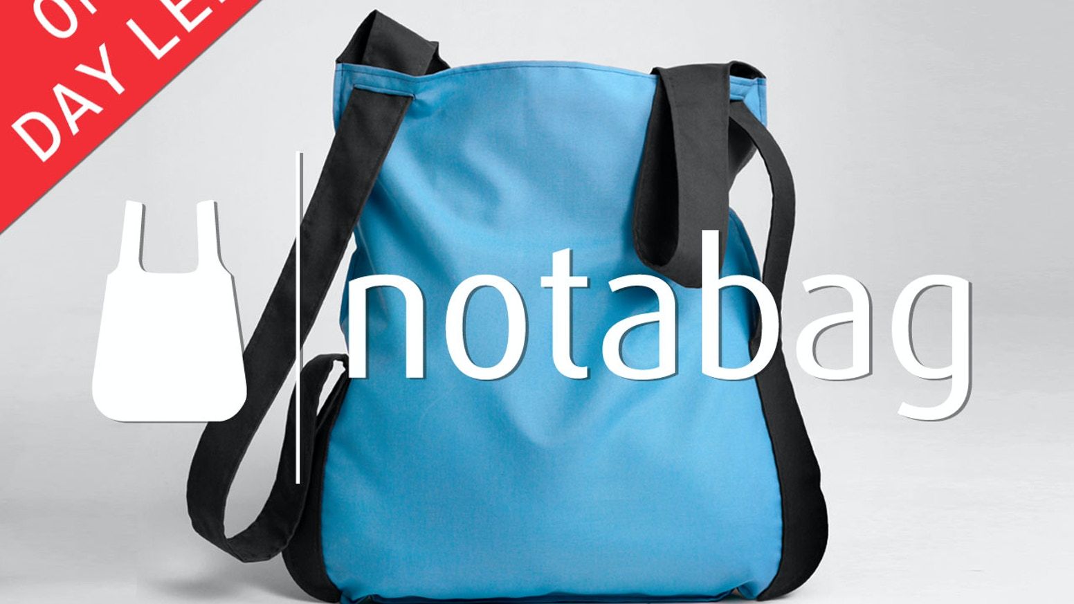 Notabag is an award-winning product that combines a bag and a backpack in the simplest way possible.