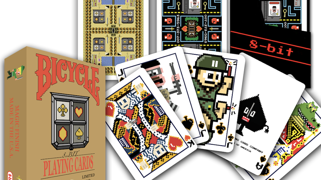 8-bit, Bicycle, Playing Cards project video thumbnail