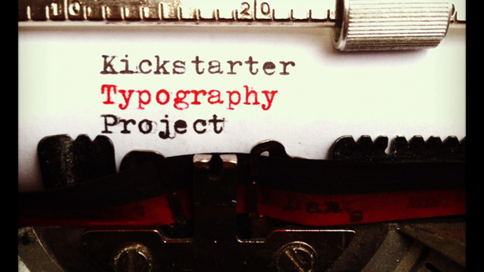 A typography design project inspired by my typewriter and other creative musings from contributors like you