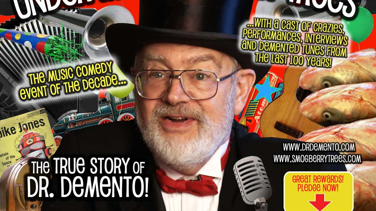 "Wind up your projectors!  ""UNDER THE SMOGBERRY TREES"" is the first ever feature length documentary about legendary deejay Dr. Demento!"