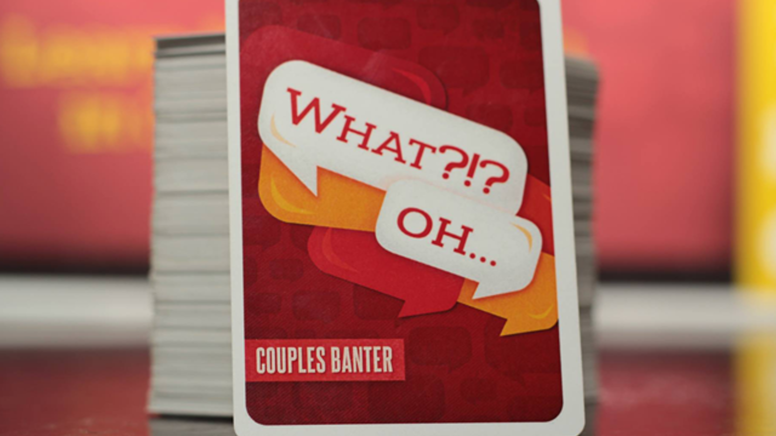 A 15 minute,  2-4 player card game that proves you are absolutely no good at listening. For couples and friends alike.