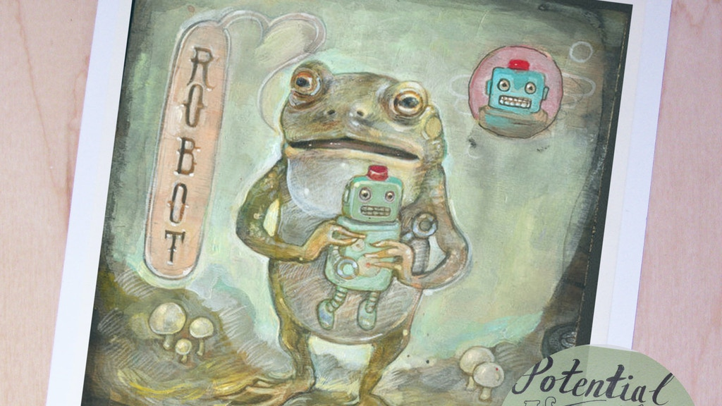 Jennifer Lewis Illustration Limited Edition Frog Robot Print project video thumbnail