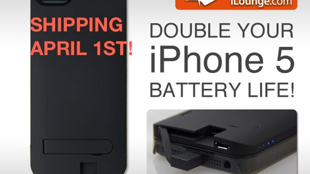 World's first iPhone 5 Interchangeable Battery & Case Cover! project video thumbnail