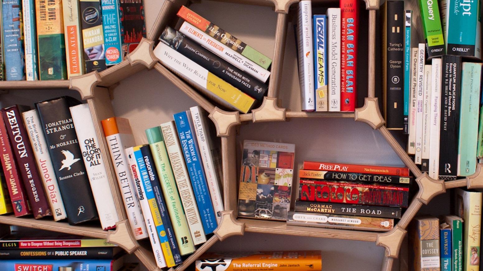 voronoi bookshelf by alan rorie kickstarter