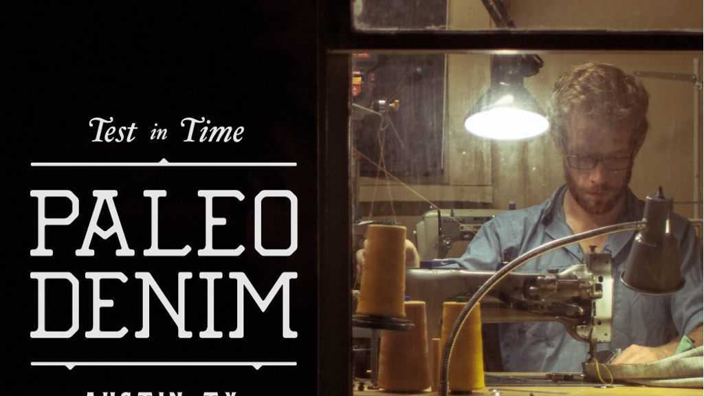 Paleo Denim - Handmade jeans and leather goods project video thumbnail