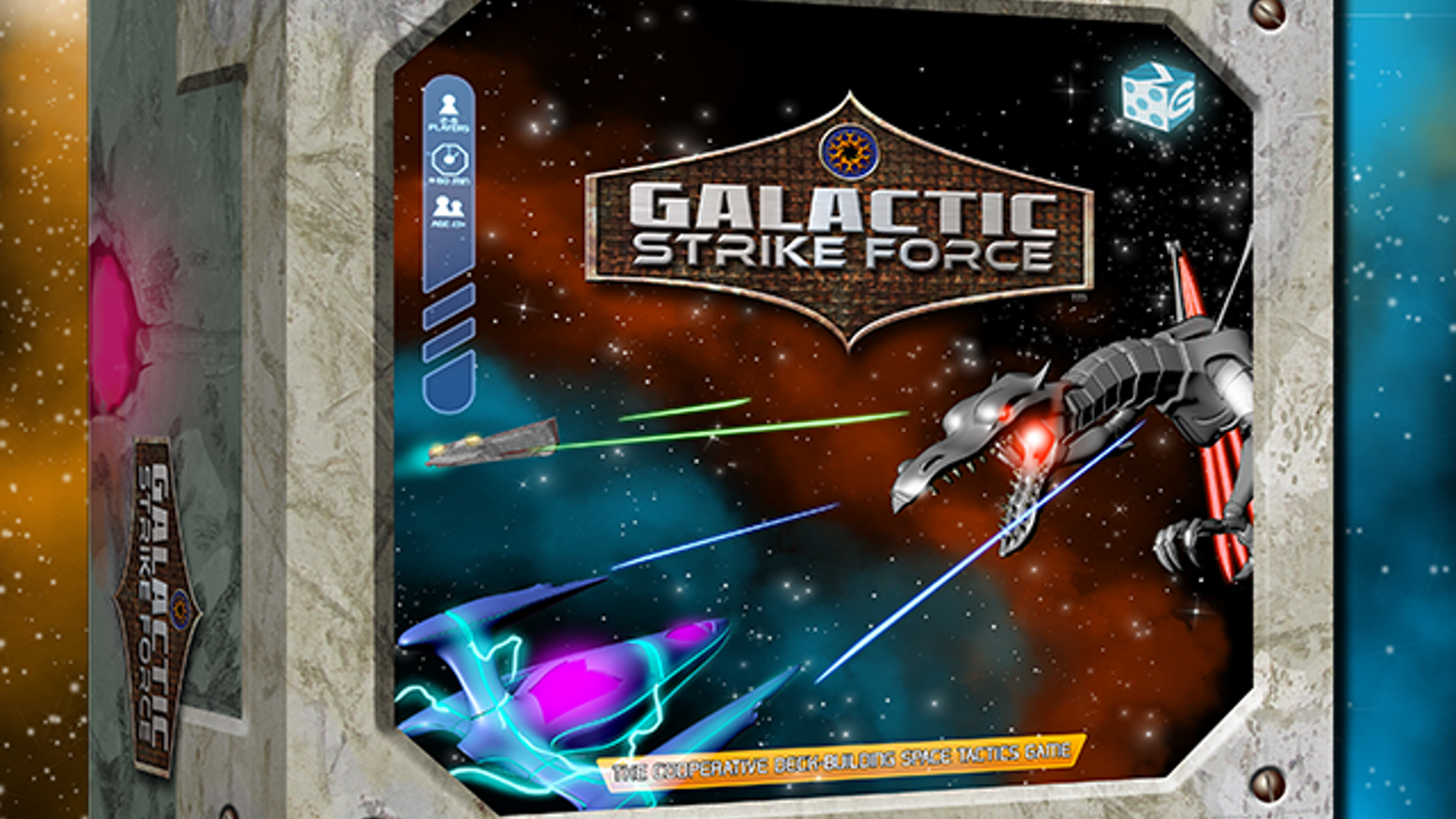 Galactic Strike Force is currently available for order! If you have any questions please email contact@greaterthangames.com. Don't forget to follow us on social Instagram and Facebook @GreaterThanGames or Twitter and Snapchat @GTGamesLLC.