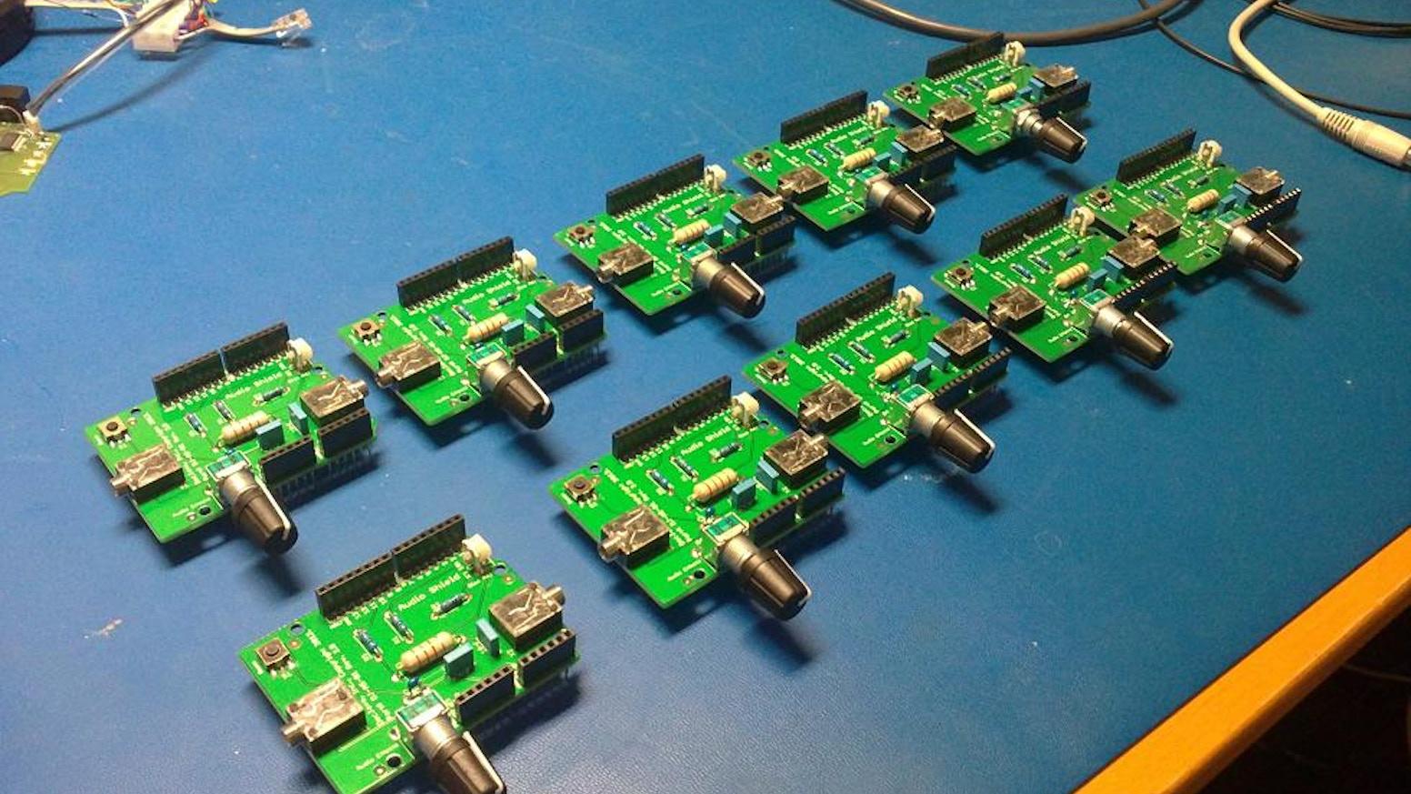 Arduino Digital Signal Processing Shield  DIY sound effects