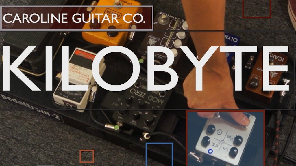 We want the Caroline Kilobyte delay pedal! project video thumbnail