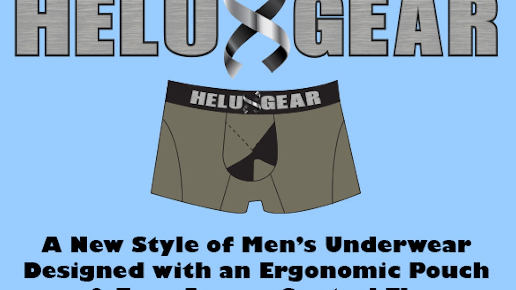Helux Gear - Ergonomic Men's Underwear with Easy Central Fly project video thumbnail