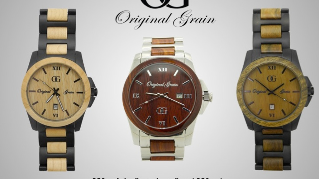 Original Grain: All-Natural Wood & Stainless Steel Watches project video thumbnail