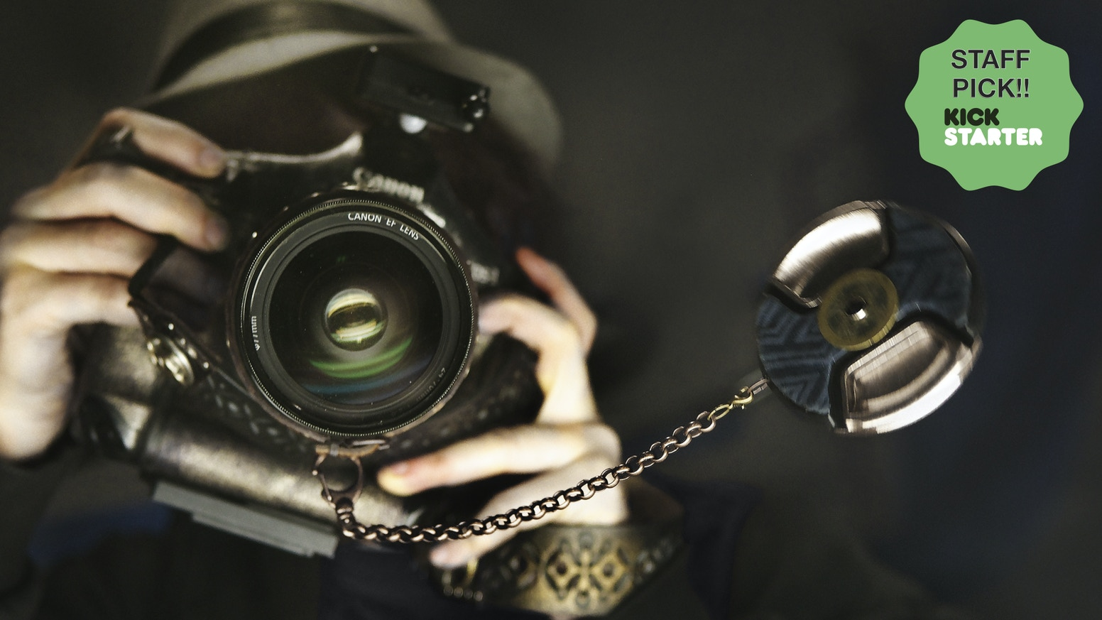 Transform your camera into an eccentric piece of art that truly represents YOU! Decorative Lens caps, Leather Cuffs & Camera Straps =)