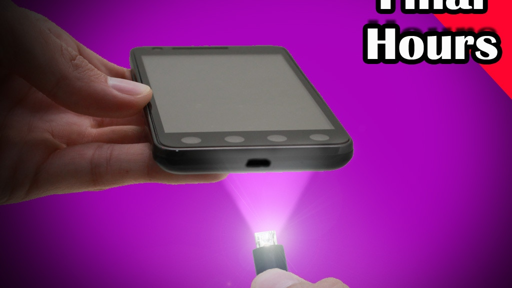 USB Micro Light Charger Cable for Cameras & Android phones project video thumbnail