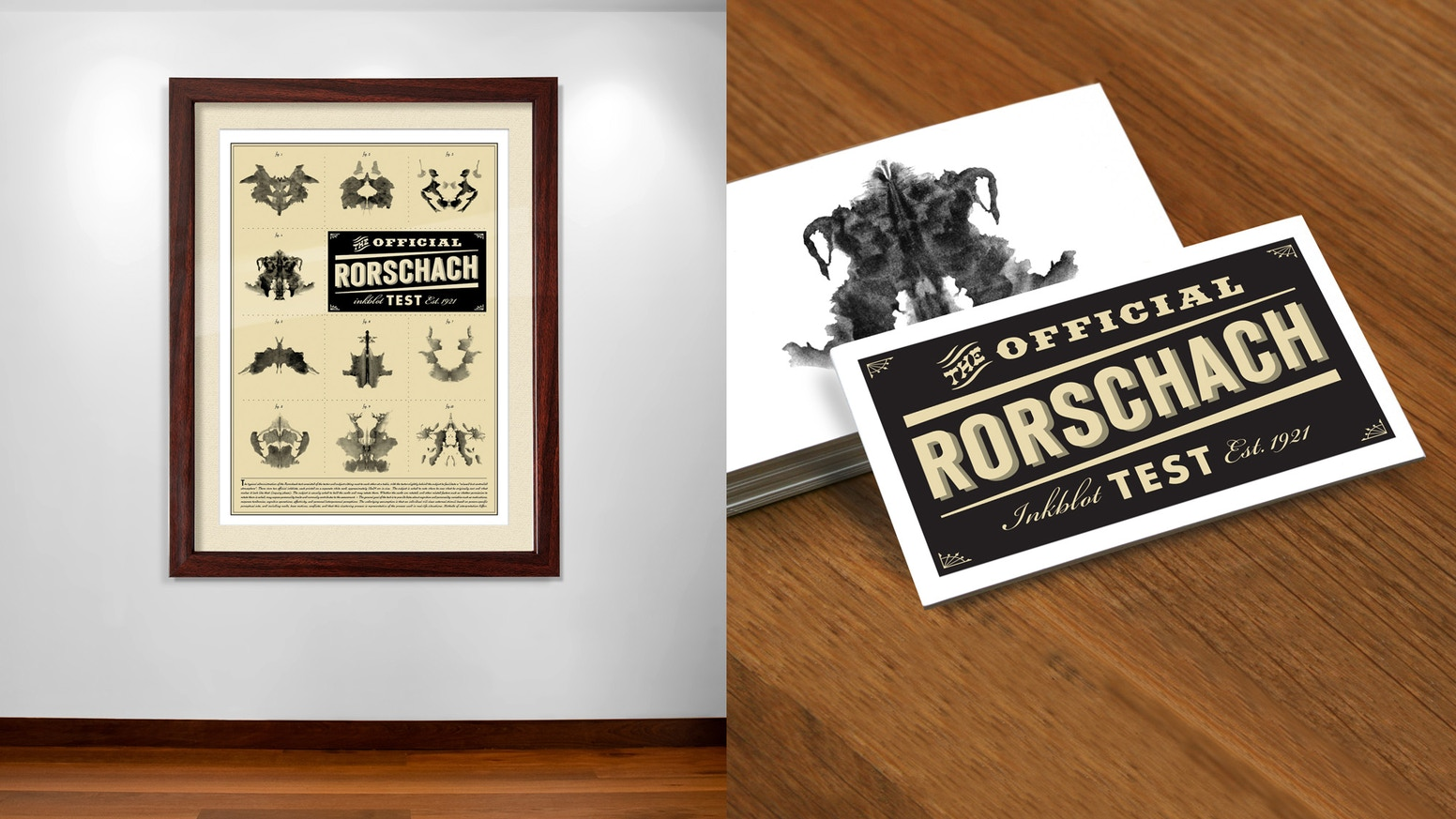 official rorschach inkblot poster card set by robert joiner