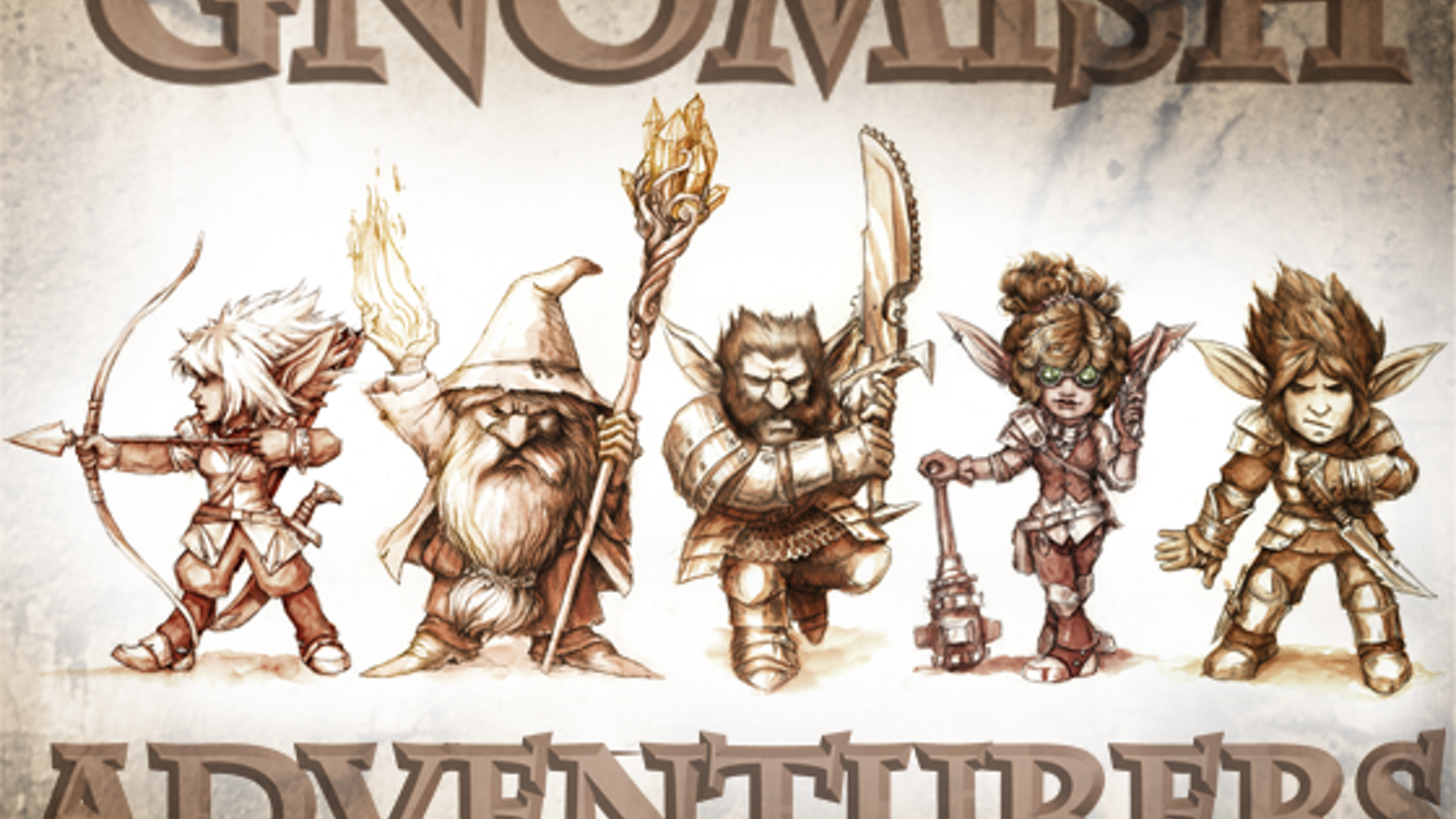 The Gnomish Adventurers Project will produce a set of Gnome hero miniatures for dungeon-crawling, RPGs and 28mm tabletop wargames.