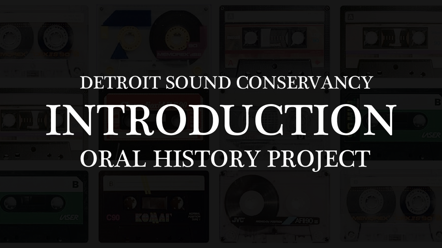 Detroit Sound Conservancy Oral History Project by Detroit