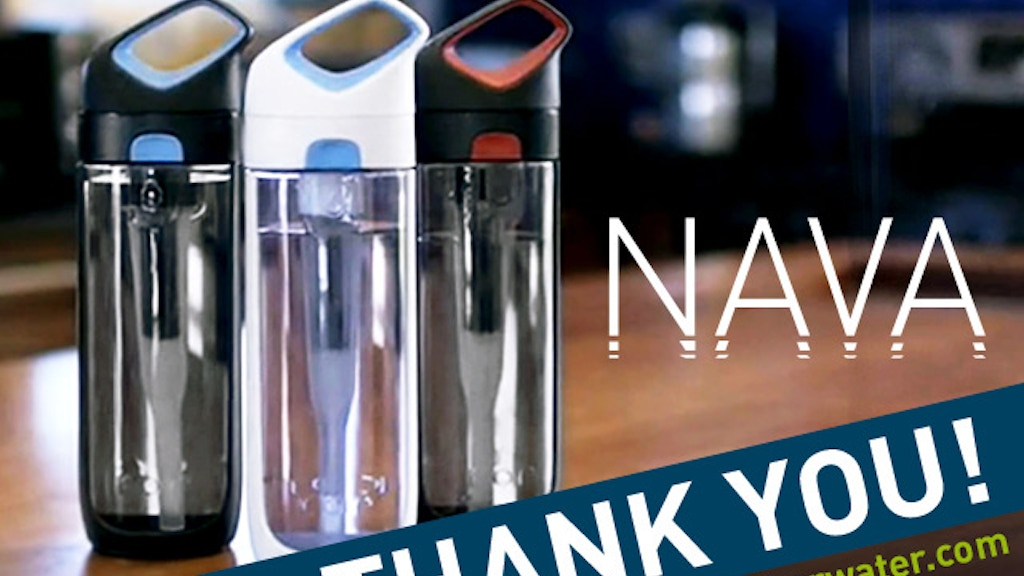 Nava: A Revolutionary Filtering Water Bottle project video thumbnail