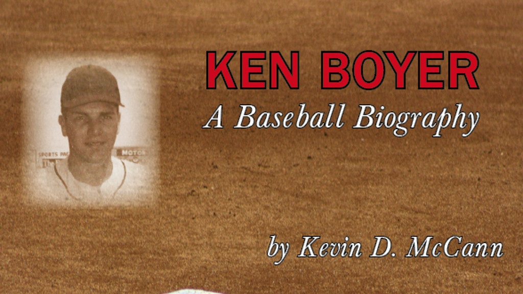 Project image for Ken Boyer Baseball Book Project