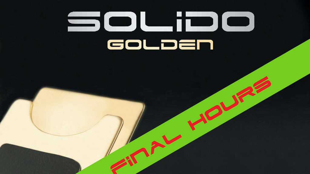 SOLIDO - New Approach To Wallet Design project video thumbnail