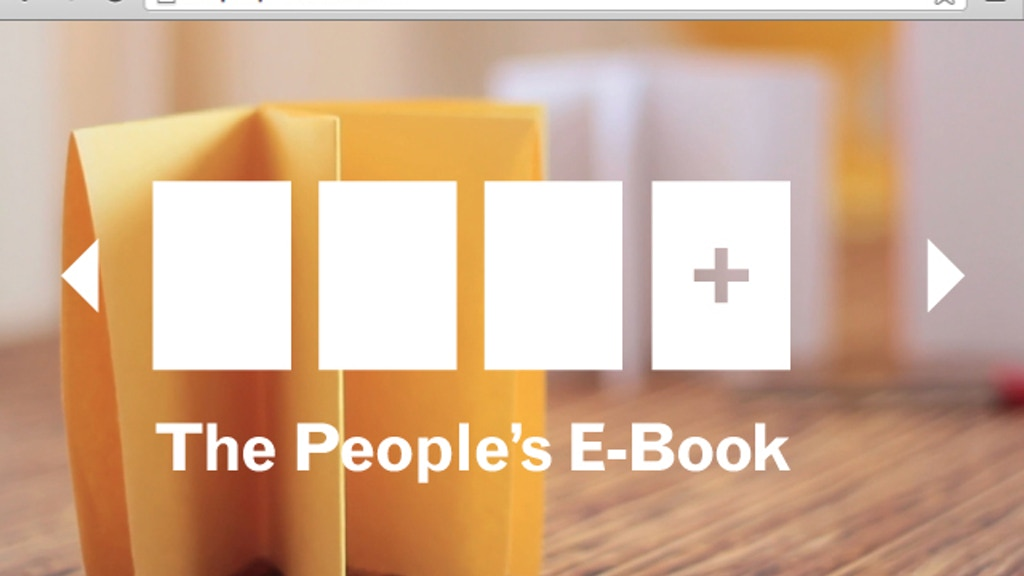 The People's E-Book project video thumbnail
