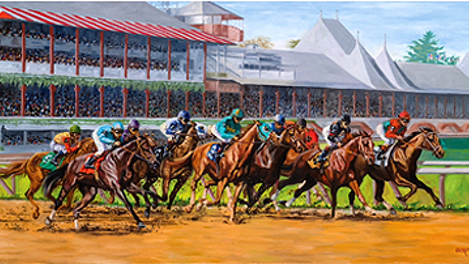 renderings of historic saratoga race course by sharon crute