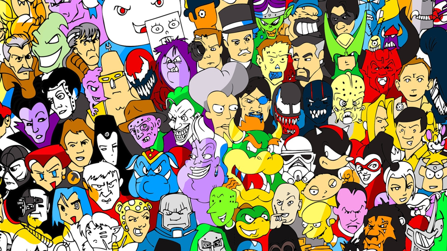 A drawing of the world's greatest villains, selected by you. A drawing that grows as backers share their beloved baddies.