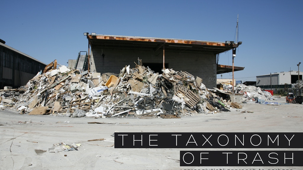 The Taxonomy of Trash - an analytical approach to garbage project video thumbnail