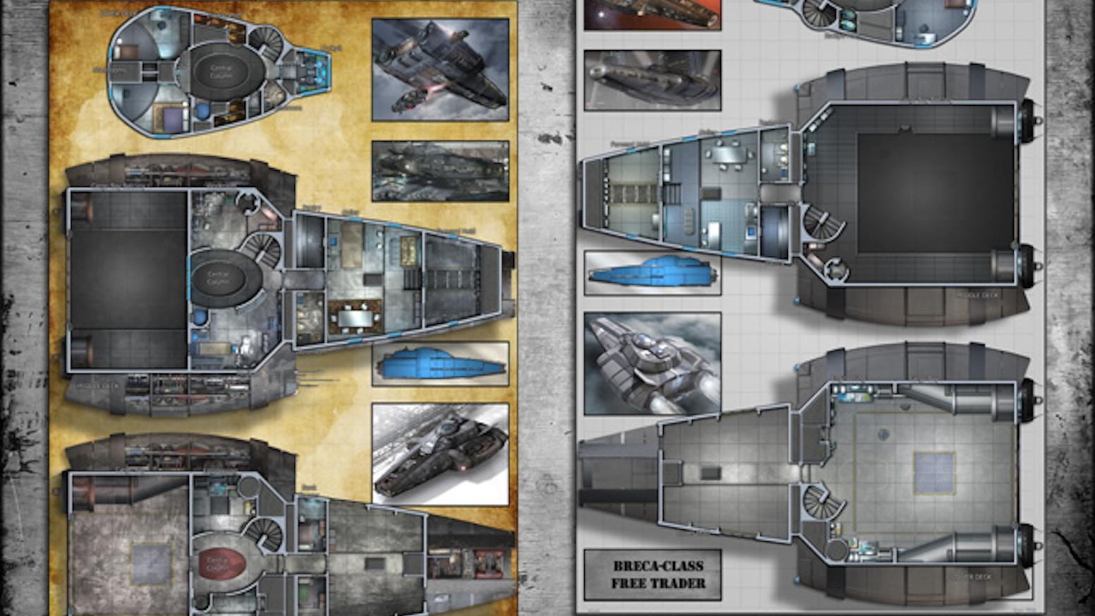 Free Trader Grendel Starship Deckplans