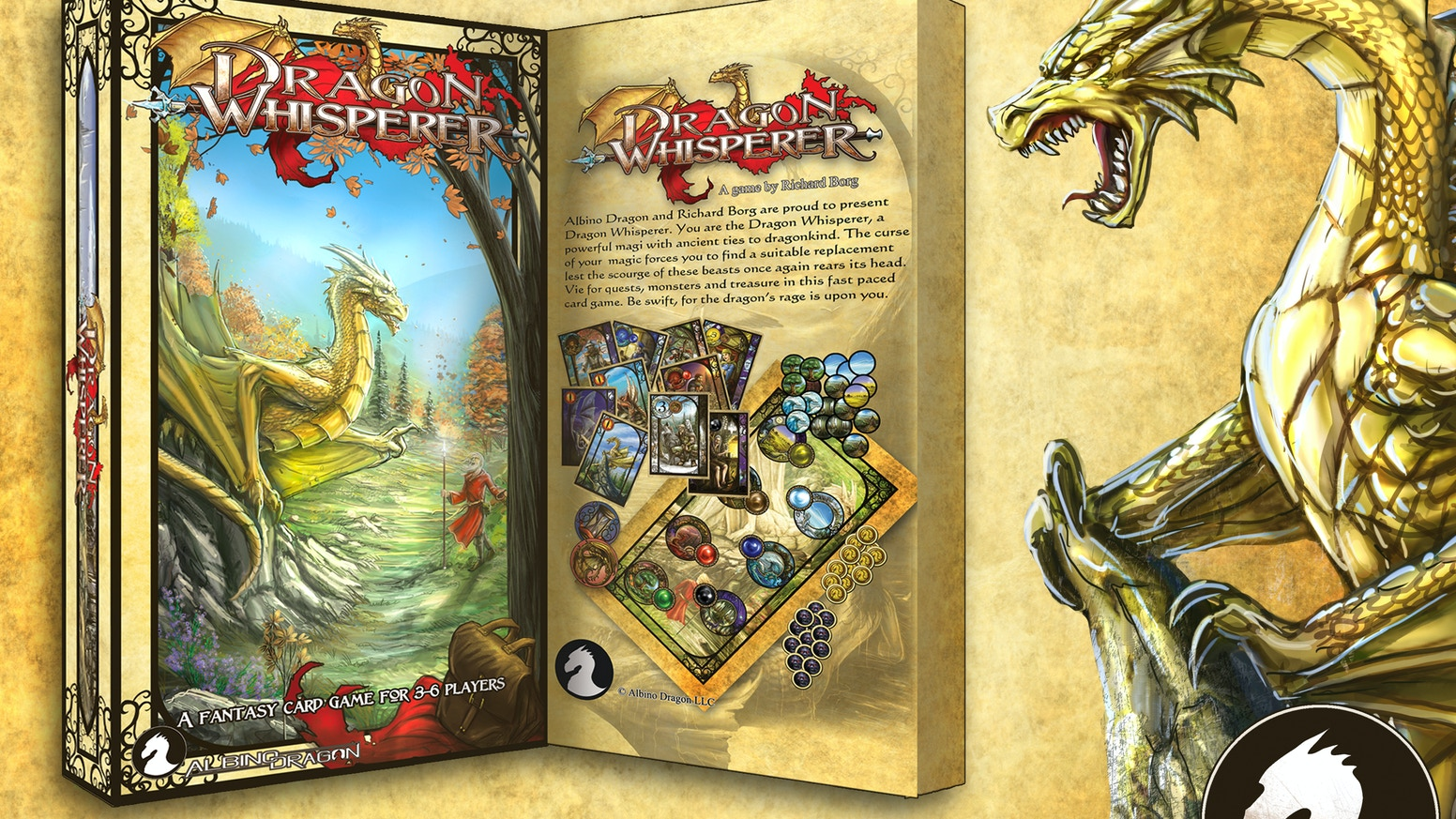 A family card game designed by Richard Borg that explores a rich and vibrant fantasy world created by Albino Dragon.