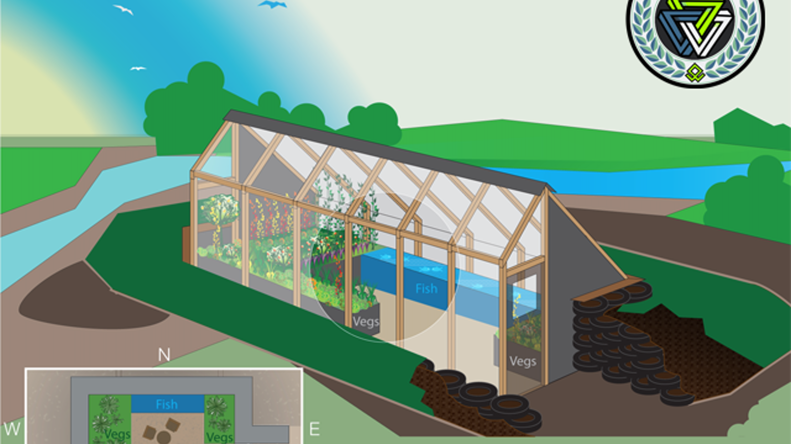 Prototyping the First 100% Off-The-Grid, Affordable, Low-Maintenance Greenhouse using Earthship Principles and Aquaponics.