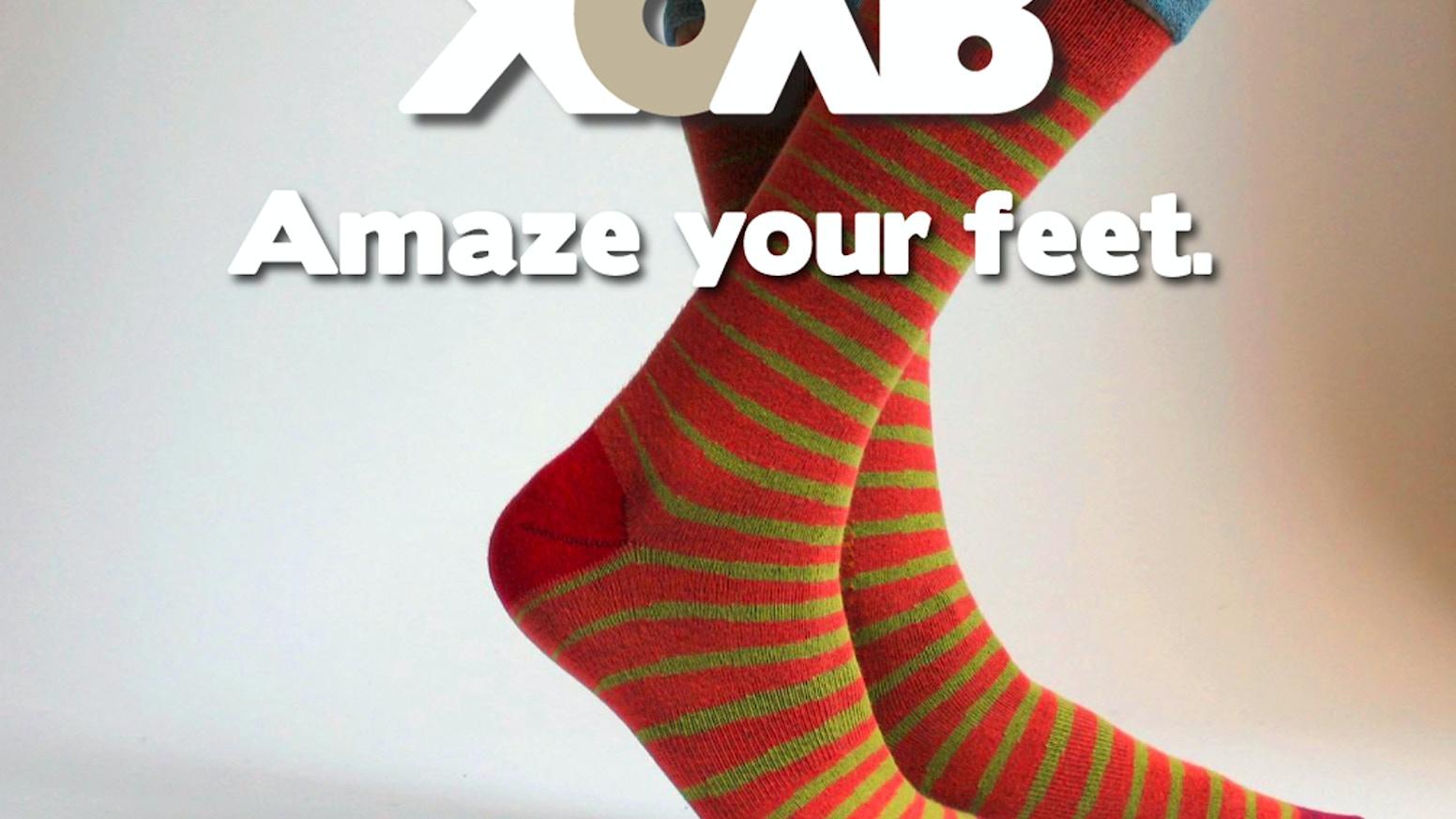 XOAB: Socks, done right  by Rick & Neil Levine — Kickstarter