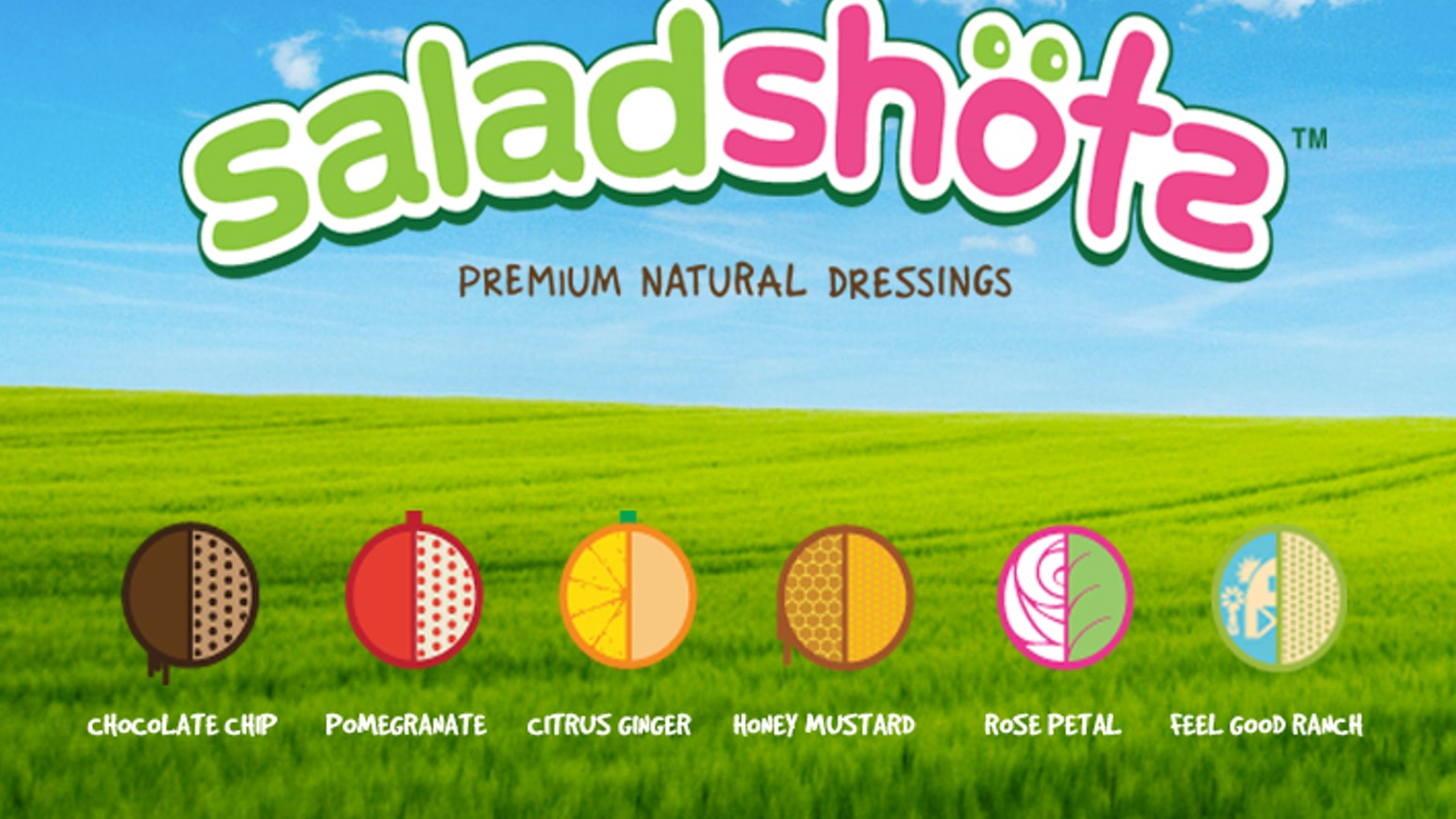 Saladshots re-invents dressings with exciting unique flavors, innovative packaging, and awesome nutritionals, all combining to make eating healthy more fun and good for you.