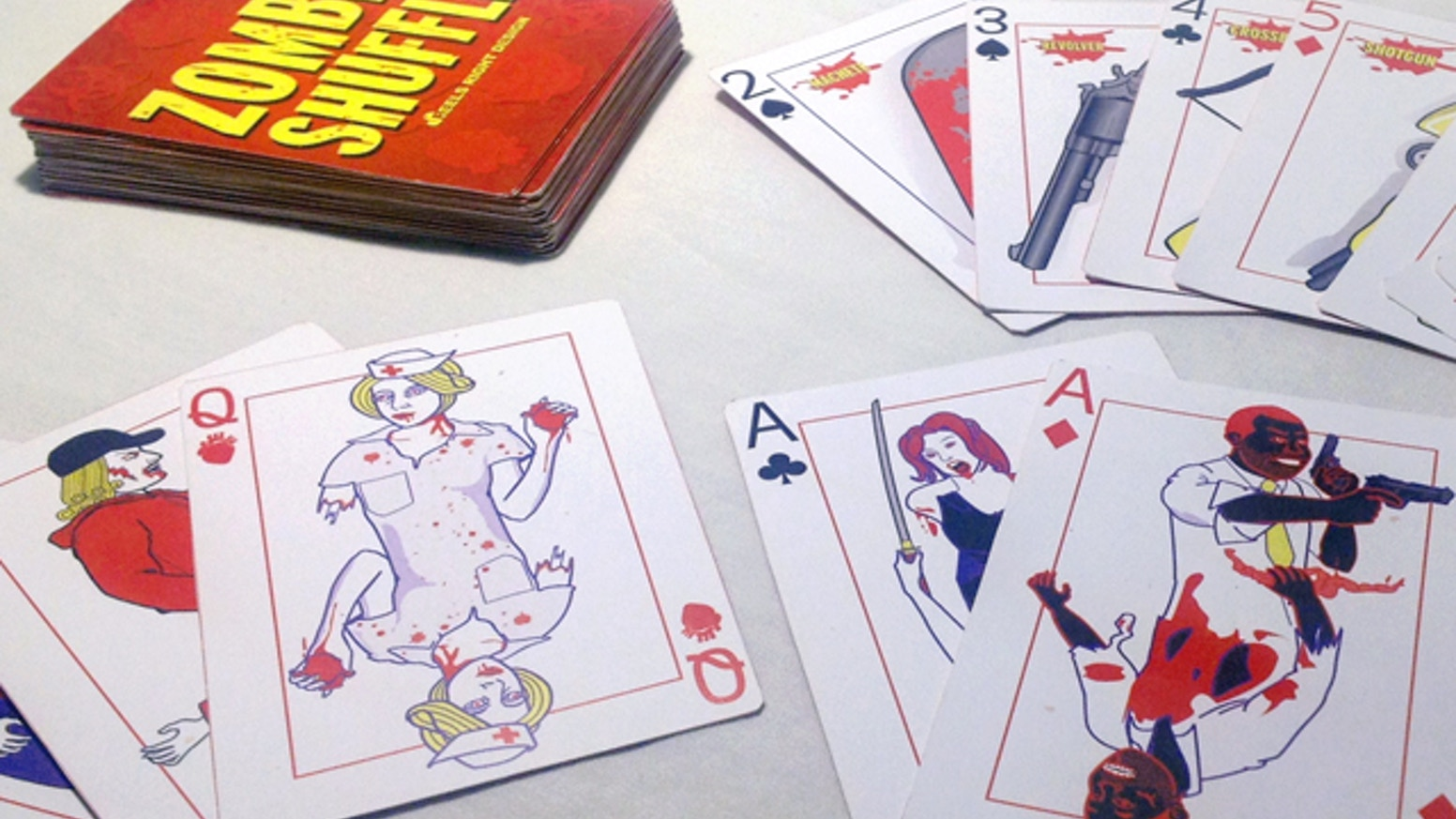 A Zombie Card Game Built Around the 52 Card Deck. Printed by the US Playing Card Company.