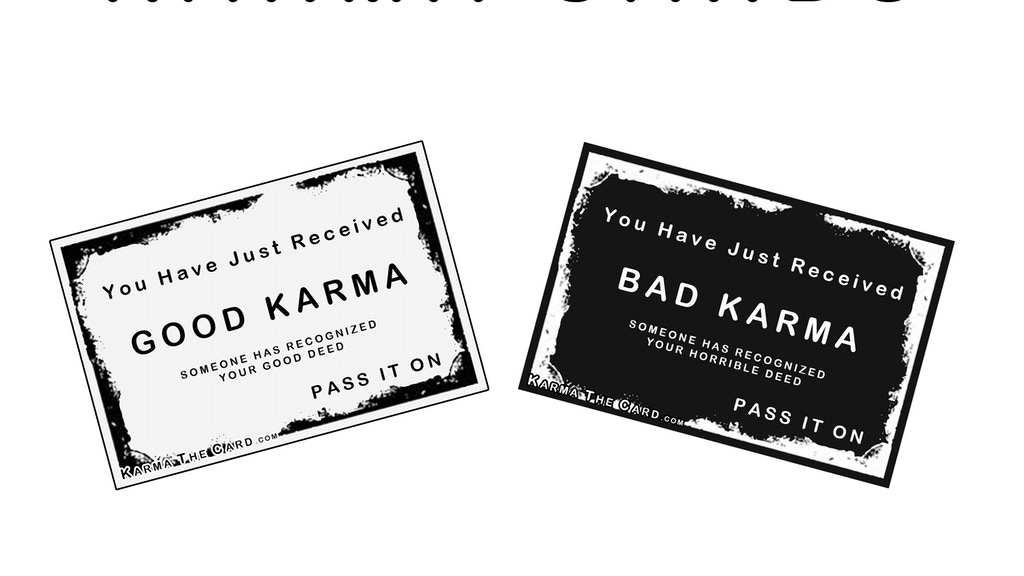 Karma Cards project video thumbnail