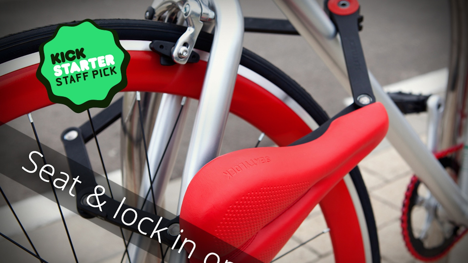 A Bicycle SADDLE that quickly transforms into a solid one meter bicycle LOCK. Fully compatible with any bike!
