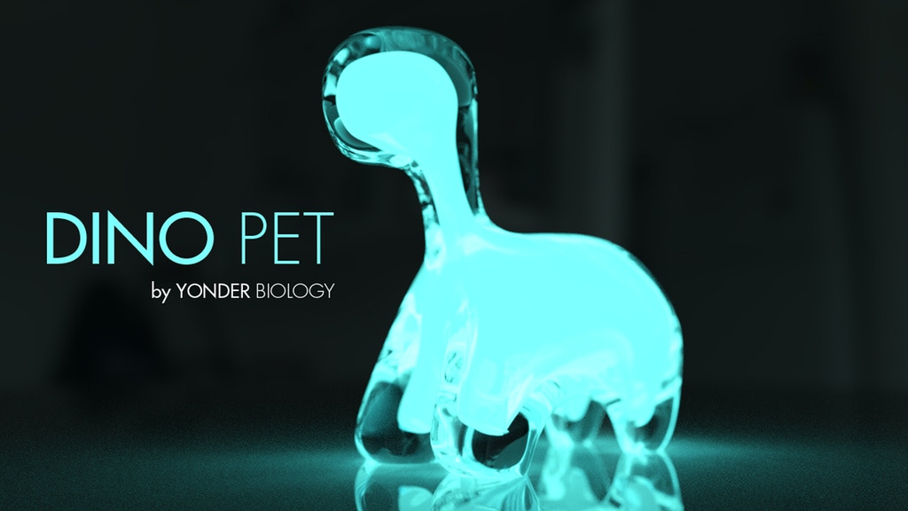 DINO PET // a living, interactive, bioluminescent pet project video thumbnail