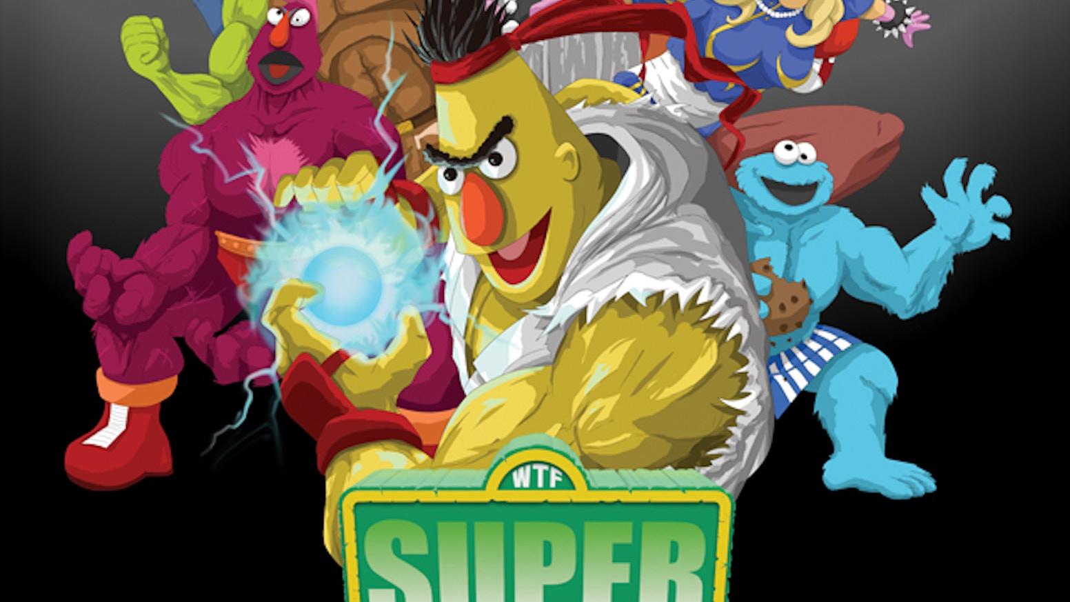 Super Sesame Street Fighter Parody Poster by Matt Crane