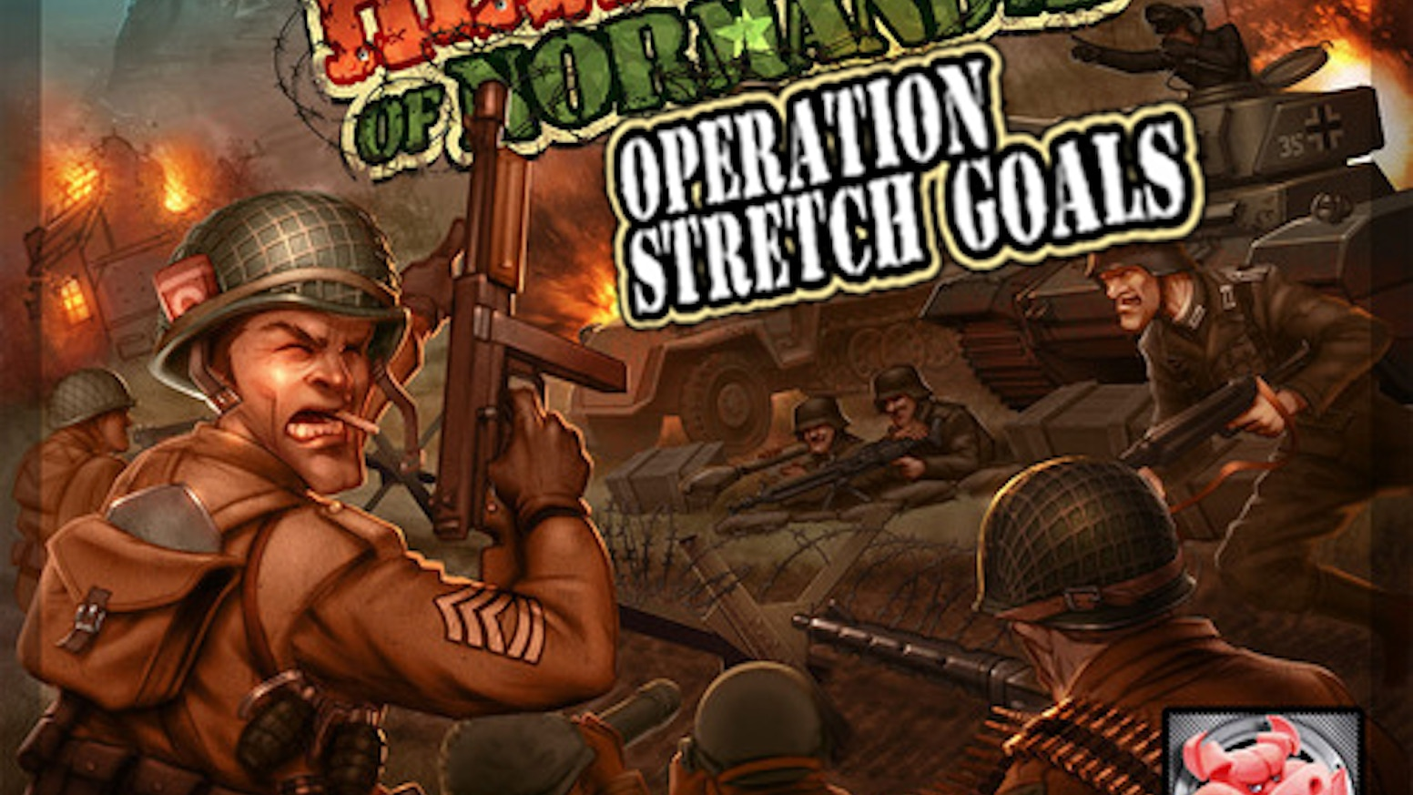 A game of heroic tactical warfare inspired by Hollywood world war II movies (with blood, guts and devil pigs...).