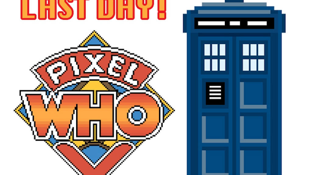 The PixelWho Project - Original Doctor Who Pixel Art Prints project video thumbnail